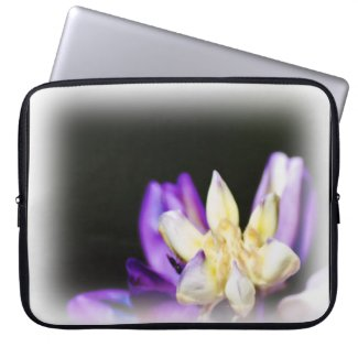 In Love With Lupine White Edge Laptop Sleeves