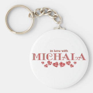 In Love with Michala Keychain
