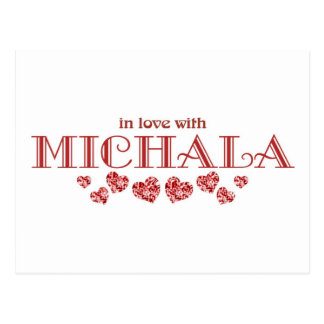 In Love with Michala Postcard