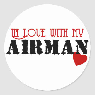 In Love With My Airman Sticker