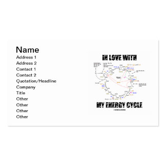 In Love With My Energy Cycle (Krebs Cycle) Business Card
