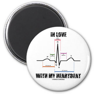 In Love With My Heartbeat (Electrocardiogram) 2 Inch Round Magnet