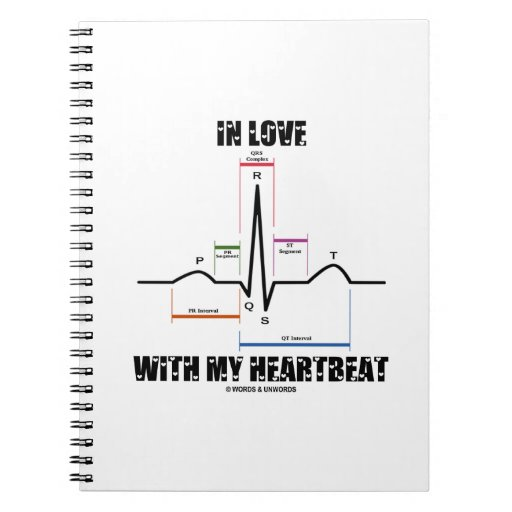 In Love With My Heartbeat (Electrocardiogram) Spiral Notebook