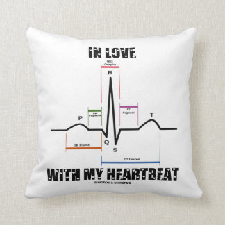 In Love With My Heartbeat (Electrocardiogram) Pillow