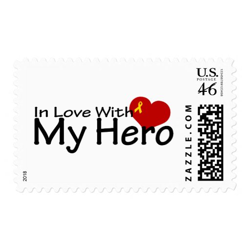In Love With My Hero Postage Stamps