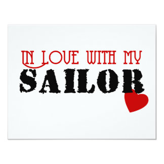 In Love With My Sailor Card