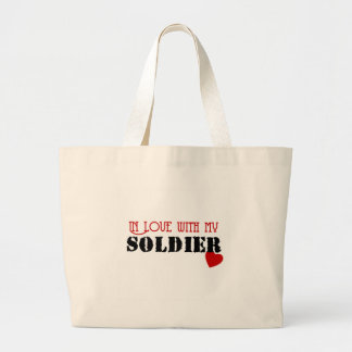 In Love With My Soldier Canvas Bag