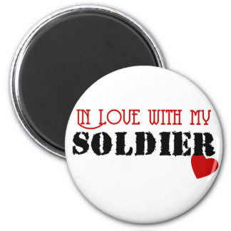 In Love With My Soldier 2 Inch Round Magnet