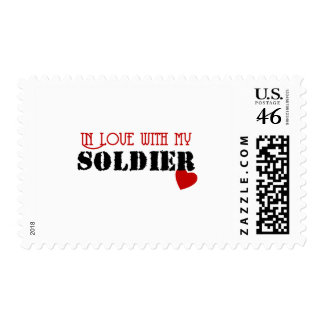 In Love With My Soldier Postage Stamp