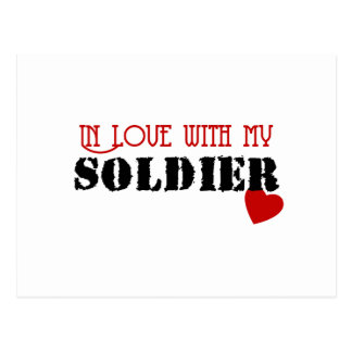 In Love With My Soldier Postcard