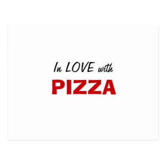 In Love with Pizza Postcard