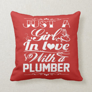 In love with Plumber Throw Pillow