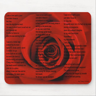 In Love With Poetry Mouse Pad