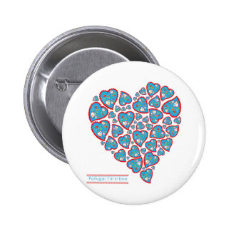 In love with Portugal Pinback Button