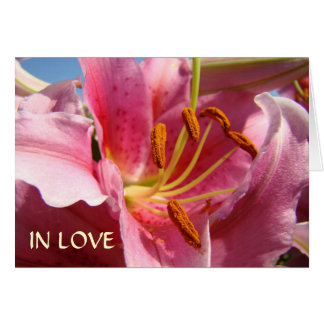 IN LOVE WITH YOU! Valentine's Day Card Pink Lilies