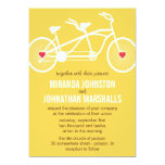 In love- Yellow Bicycle Wedding Invitations