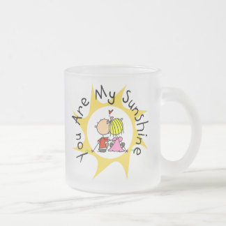 In Love You Are My Sunshine Frosted Glass Coffee Mug