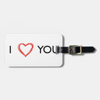 In Love you heart Bag Tag