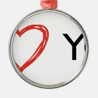 In Love you heart Metal Ornament