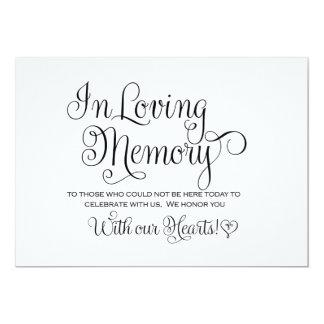 In Loving Memories Wedding Sign Card