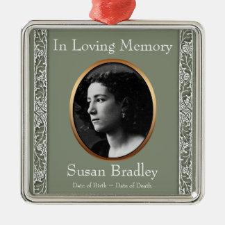In Loving Memory 1 Custom Photo Memorial Ornament