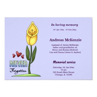 In Loving Memory 5x7 Paper Invitation Card