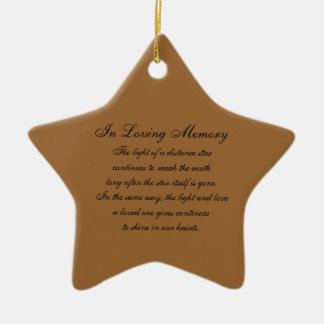 In Loving Memory America US Flags and Fireworks Bu Christmas Ornaments