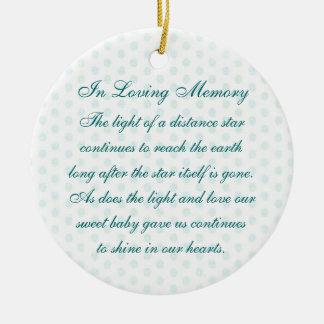 In Loving Memory Baby Boy's Death Memorial Ceramic Ornament