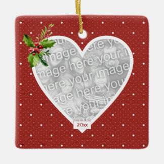 In Loving Memory Boughs of Holly Ornament