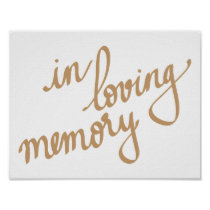 In Loving Memory Chic Calligraphy Script Poster
