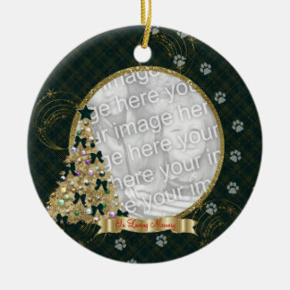In Loving Memory Christmas Pawprint Photo Ornament