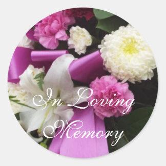 In Loving Memory Classic Round Sticker