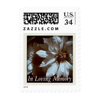 In Loving Memory Clematis Memorial Funeral Postage