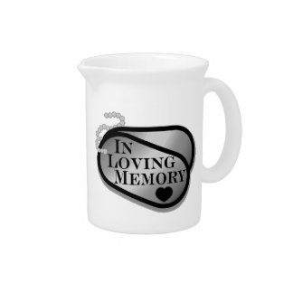 In Loving Memory Dog Tags Drink Pitchers
