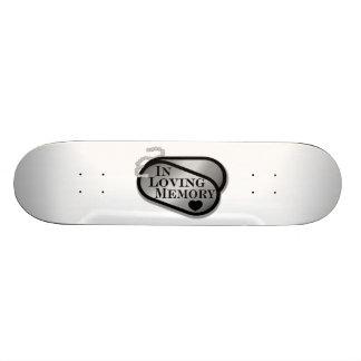 In Loving Memory Dog Tags Skateboard Deck