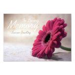 In Loving Memory Floral Memorial Service Card