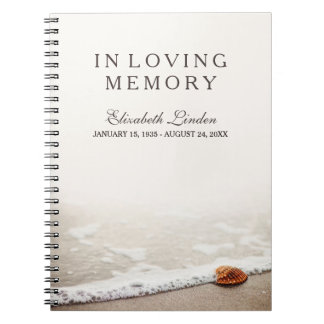 In Loving Memory | Funeral Guestbook | Beach Notebook