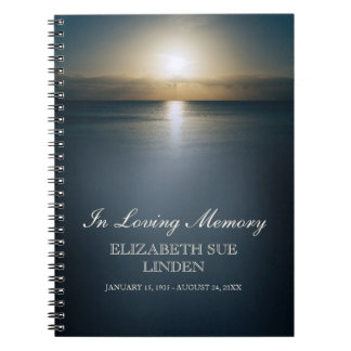 In Loving Memory | Funeral Guestbook | Ocean Notebook