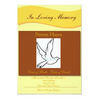 """In Loving Memory Funeral Invitation/Program 5"""" X 7"""" Invitation Card"""