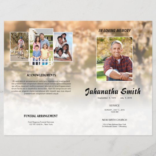 in loving memory funeral program flyer zazzle com