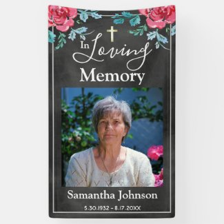 In Loving Memory Funeral Remembrance Banner