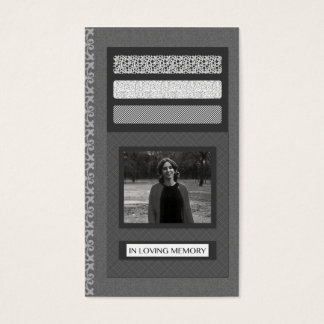 in loving memory funeral service announcements business card