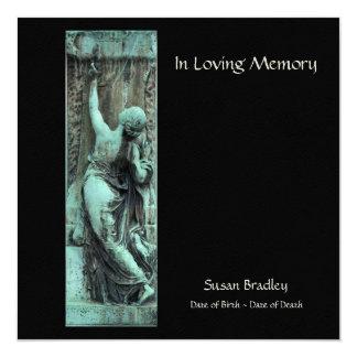 In Loving Memory Funerary Art Celebration of Life Card