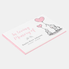 In Loving Memory | Girl Funeral Memorial Guest Book