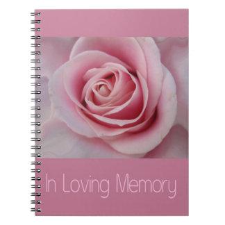 In Loving Memory guestbook Notebook