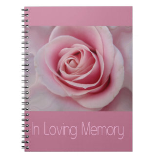In Loving Memory guestbook Spiral Notebook