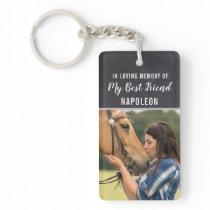 In Loving Memory Horse Keychain
