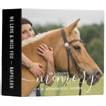 In Loving Memory Horse Memorial Photo Album 3 Ring Binder