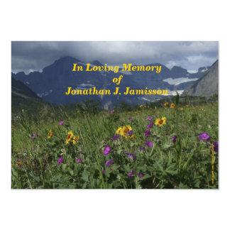 "In Loving Memory Invitation, Mountain Wildflowers 5"" X 7"" Invitation Card"