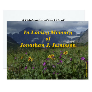 In Loving Memory Invitation, Mountain Wildflowers Card